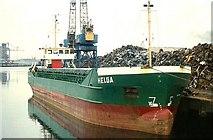 "J3474 : The ""Helga"" at Belfast by Albert Bridge"