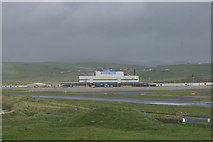 HU3909 : View towards Sumburgh Airport from the Sumburgh Hotel by Mike Pennington