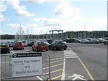 SU4808 : Entrance to Mercury Yacht Harbour by Basher Eyre