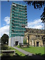 SJ3454 : The tower of All Saints, Gresford by John S Turner