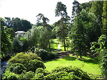 SJ8383 : Gardens at Quarry Bank Mill by George Evans