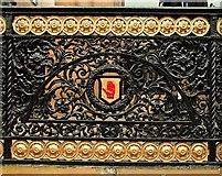 J3474 : Ornamental ironwork, Belfast by Albert Bridge