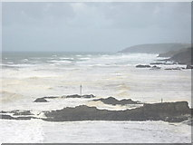SS2006 : Summer storm over Summerleaze Beach, Bude by Mel Landells
