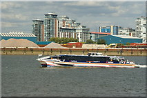 TQ3980 : Thames Clipper Near the Millennium Dome by Peter Trimming