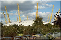 TQ3980 : Millennium Dome From the Thames Path by Peter Trimming