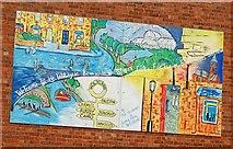 J3472 : Holy Land mural. Belfast by Albert Bridge