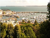 SX9163 : Torquay: view over the marina from Warren Road by Chris Downer
