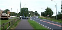 J3633 : The A50 at its junction with the Tollymore and Churchill Roads by Eric Jones
