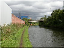 SJ7996 : Trafford Park, canal by Mike Faherty