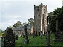 SX7087 : Chagford church and churchyard by Rob Purvis
