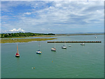 SZ3394 : Looking towards the Pylewell Lake and the Lymington Spit by Christine Matthews