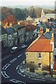 NU2405 : Warkworth village centre from castle. by nick macneill