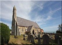 TR3748 : St John the Evangelist, Kingsdown, Kent - With glimpse of the sea by John Salmon