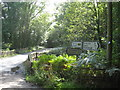 NU2002 : Road sign at a bridge over the Hazon Burn by Dr Duncan Pepper