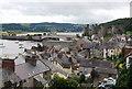 SH7877 : Conwy Castle & Bridge across the rooftops by N Chadwick