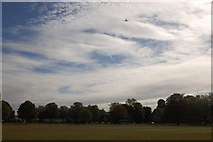 TQ1572 : Twickenham Green and Heathrow flightpath by Roger Davies
