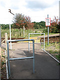 TM4598 : Pedestrian crossing at Haddiscoe Station by Evelyn Simak