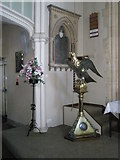 SU6400 : The lectern at All Saints, Portsea by Basher Eyre