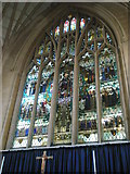 SU6400 : Stained glass window above the altar at All Saints, Portsea by Basher Eyre