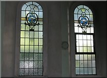 SU6400 : Simple stained glass windows within St Luke's, Portsea by Basher Eyre