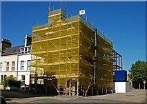 J3472 : Building under renovation, Belfast by Albert Bridge