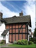 SJ3384 : House at Port Sunlight (Timbered with Herringbone Brickwork) by Gerald Massey