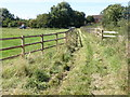 TL0575 : Footpath close to Bythorn village by Michael Trolove