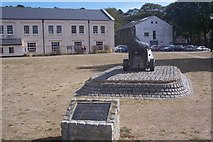 TQ7568 : Cannon in front of Chatham Library by David Anstiss
