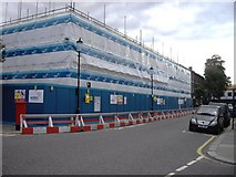 TQ2677 : Chelsea Academy under construction at the corner of Burnaby Street and Upcerne Road by PAUL FARMER