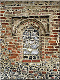 TM3898 : St Gregory's Church - blocked south porch window by Evelyn Simak