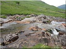 NN0633 : Glen Noe rapids by Hugh Venables