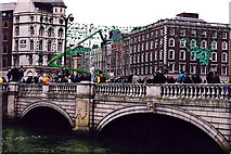 O1534 : Dublin - O'Connell Bridge - St Patrick's Day - 1998 by Joseph Mischyshyn