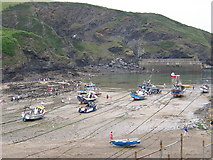 SW9980 : Port Isaac Harbour by Barrie Cann