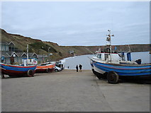 TA1281 : Coble Landing, Filey by phillip andrew carl taylor