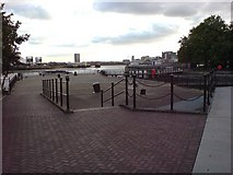 TQ3980 : Riverside Area, East India Dock Basin by Danny P Robinson