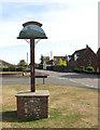 TG3608 : Lingwood village sign by Evelyn Simak