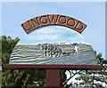 TG3608 : Lingwood village sign (close-up) by Evelyn Simak