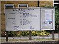 TL7205 : Great Baddow United Reformed Church Notice Board by Geographer