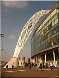 TQ1985 : Wembley: the foot of the arch by Chris Downer
