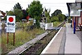 SU8885 : Stop board and level crossing at Cookham Station by Steve Daniels