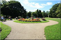 SK0573 : Flower Bed, Pavilion Gardens by Bob Jenkins