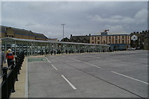 SD9851 : Empty bays at Skipton Bus Station by David Long