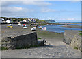 SN0539 : Slipway, Trefdraeth / Newport, low tide by Pauline E