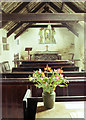 SX0789 : St Piran's Chapel, Trethevey (interior) by Andrew Hackney