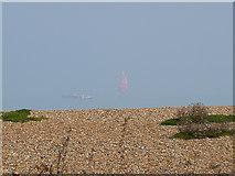 TR3752 : Red sail off Deal beach by John Rostron
