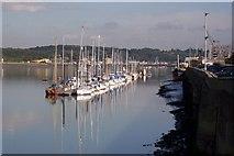 TQ7568 : Boats moored beside Anchor Wharf, Chatham by David Anstiss