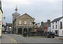 SN7634 : Town Hall. Llandovery by Pauline E