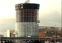 """J3474 : The """"Obel"""" site, Belfast (75) by Albert Bridge"""