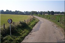 TQ7036 : Driveway to Finchcocks Farm and Scotney Castle by David Anstiss