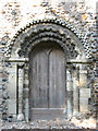 TM4198 : The church of All Saints  - Norman south doorway by Evelyn Simak